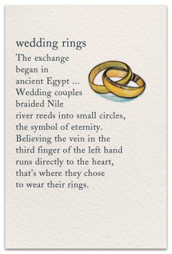 wedding rings card front