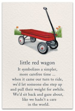 Little Red Wagon Support Encouragement Card Front