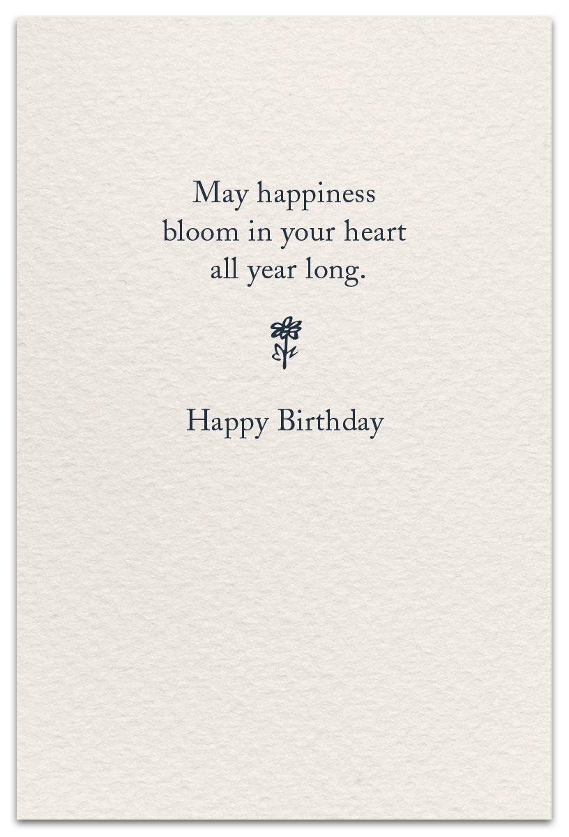 Gardening Birthday Card Inside Message