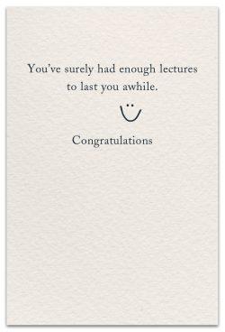 graduation card inside message