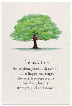 the oak tree wedding card front