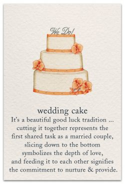 wedding cake card front