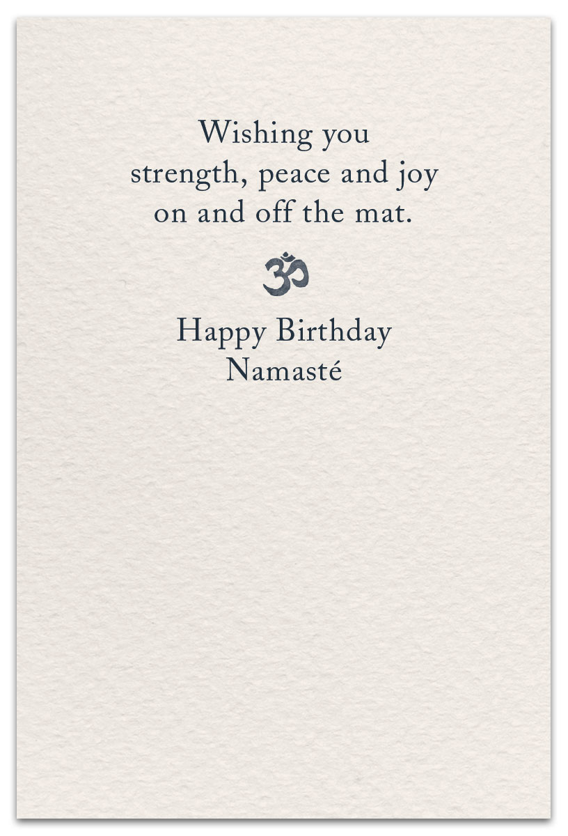 Yoga Birthday Card Inside Message