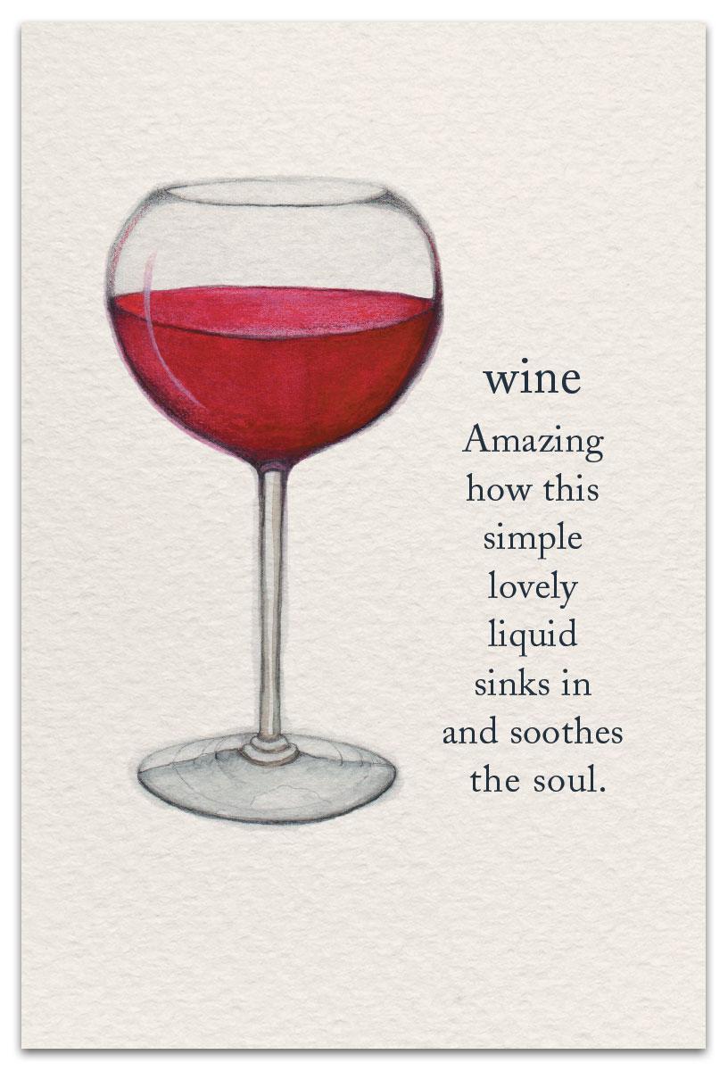 Wine Birthday Card Front