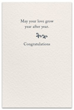 peonies wedding card inside message