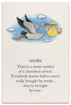 storks new child card front