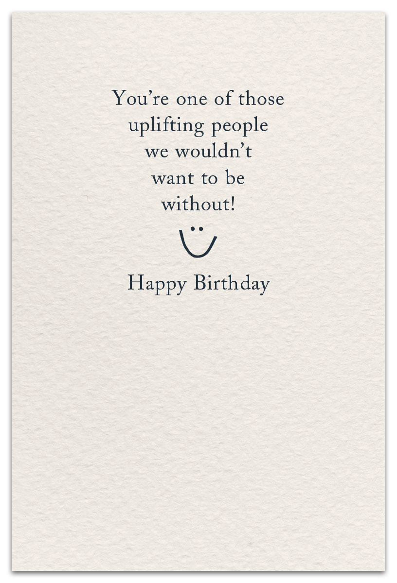 Birthday Balloons Card Inside Message