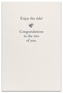 just married birthday card inside message