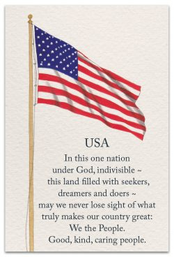 USA friendship card front