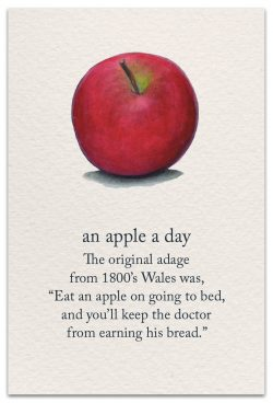 an apple a day feel better card front