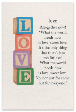 love friendship card front