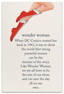 wonder woman friendship card front