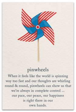 Pinwheels Support Encouragement Card Front