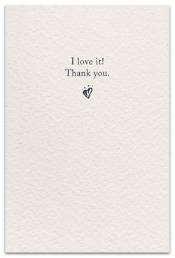 Thank you card inside message