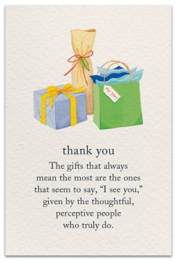 Thank you card front