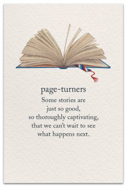 Page-turners birthday card front