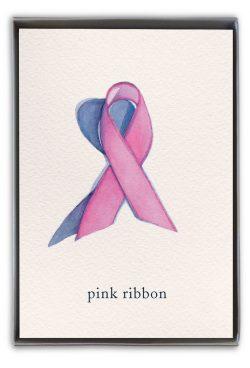 pink ribbon boxed notes
