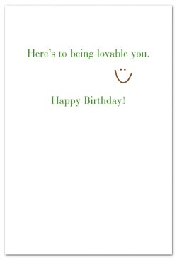 one in every family birthday card inside message