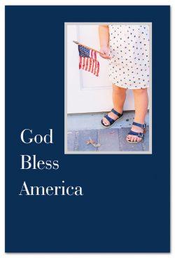 Girl holding flag friendship card front