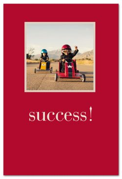 kids racing toy cars congratulations card front