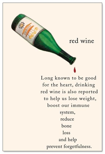 Red Wine Birthday Card Front