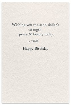 Sand Dollar Birthday Card Inside Message