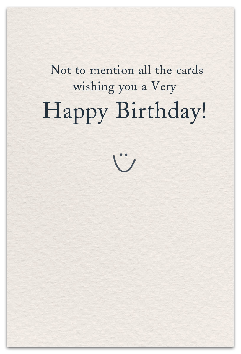 Readers Birthday Card Inside Message