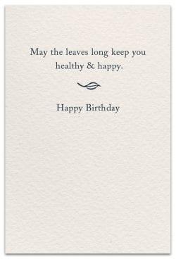 Tea Birthday Card Inside Message