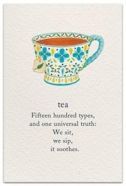 Tea Birthday Card Front