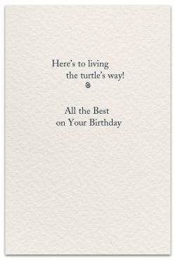 Turtle Birthday Card inside message
