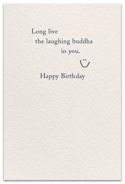 laughing buddha birthday card inside message