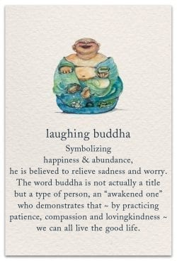 laughing buddha birthday card front
