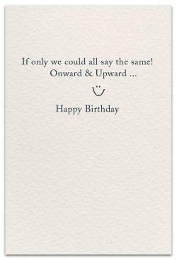 bras birthday card inside message