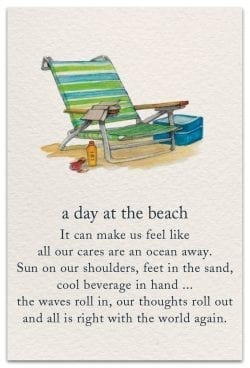 a day at the beach card front