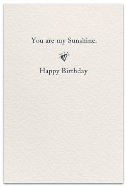 the sun birthday card inside message