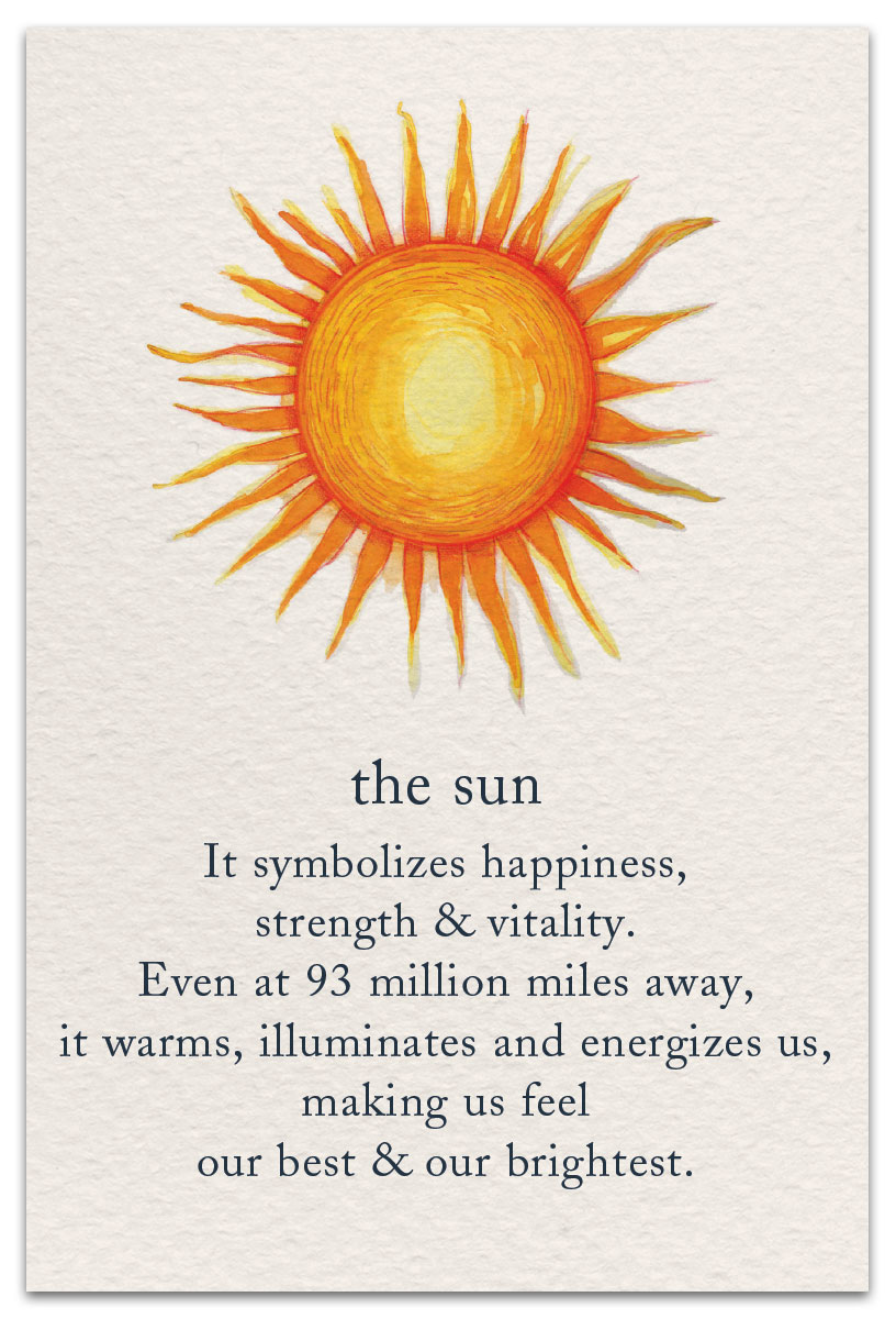 the sun birthday card front