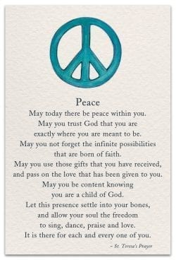 Peace Friendship Card Front