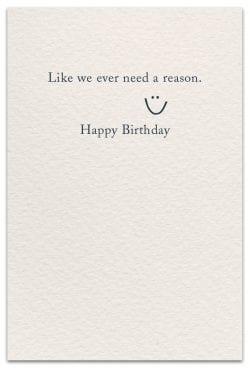 Red Wine Birthday Card Inside Message