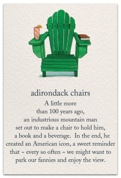 adirondack chairs birthday card front