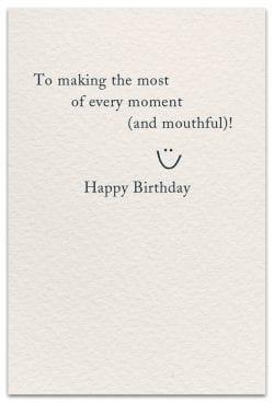 ice cream birthday card inside message