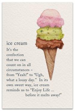 ice cream birthday card front