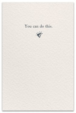 Small Stones Support Encouragement Card Inside Message