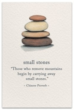 Small Stones Support Encouragement Card Front