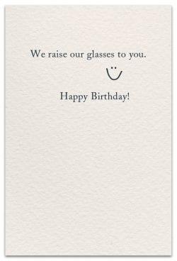 beer birthday card inside message