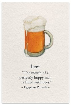 beer birthday card front