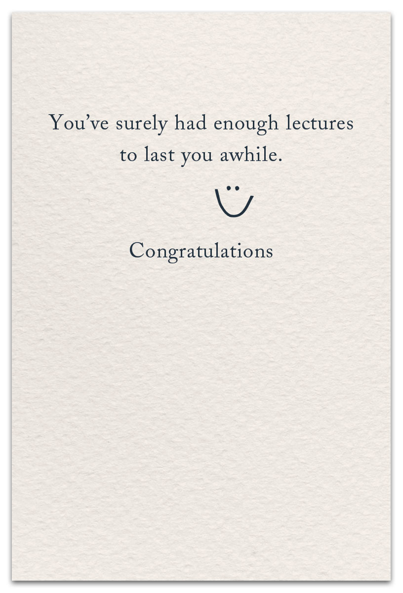 graduation card inside message