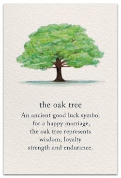 the oak tree wedding card front
