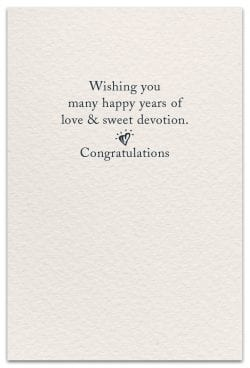 wedding cake card inside message