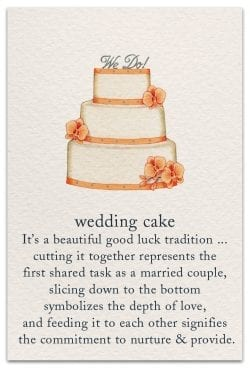 wedding cake card front