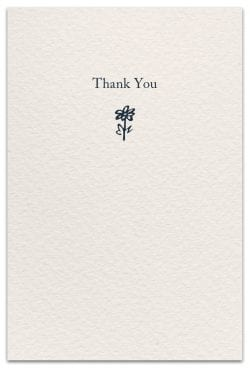 saying thanks thank you card inside message